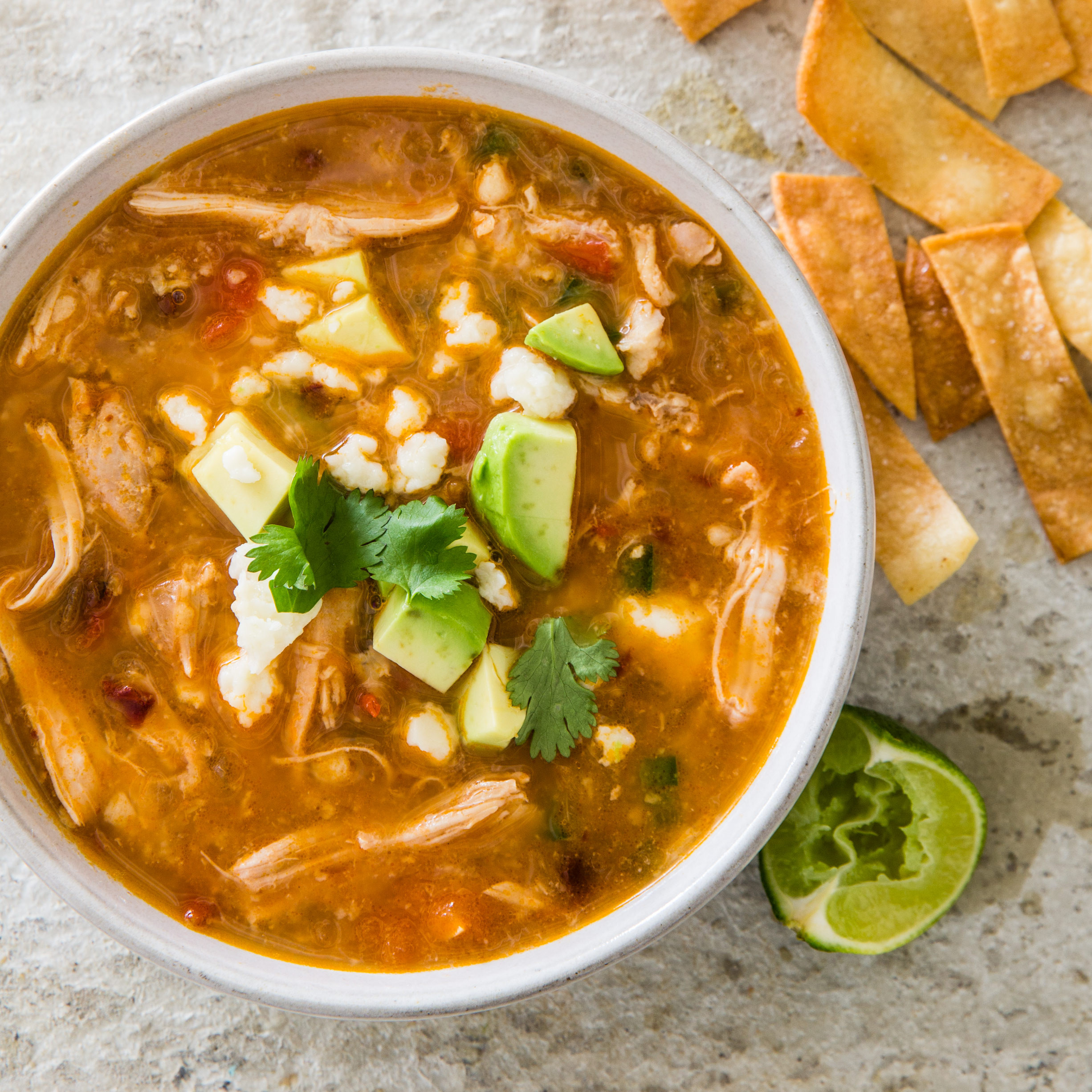 Recipe For Chicken Tortilla Soup  Slow Cooker Chicken Tortilla Soup