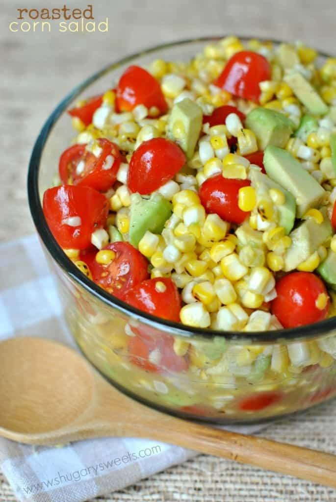 Recipe For Corn Salad  Roasted Corn Salad Shugary Sweets