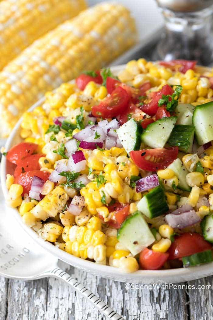 Recipe For Corn Salad  Fresh Corn Salad Spend With Pennies