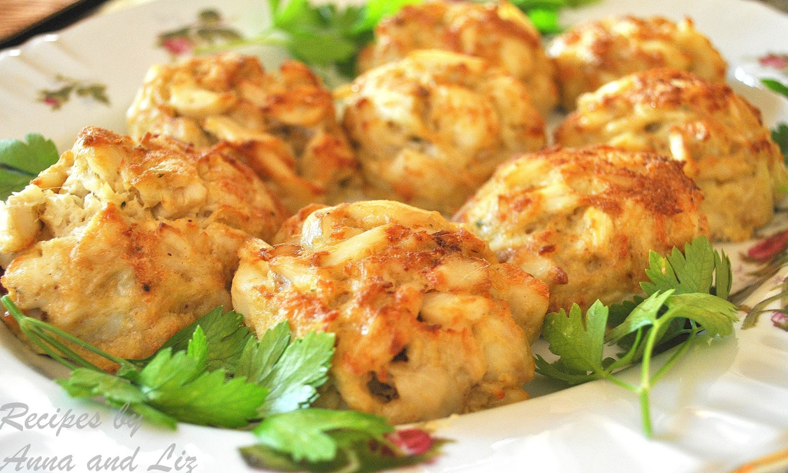 Recipe For Crab Cakes  Crab Cakes Lightened 2 Sisters Recipes by Anna and Liz
