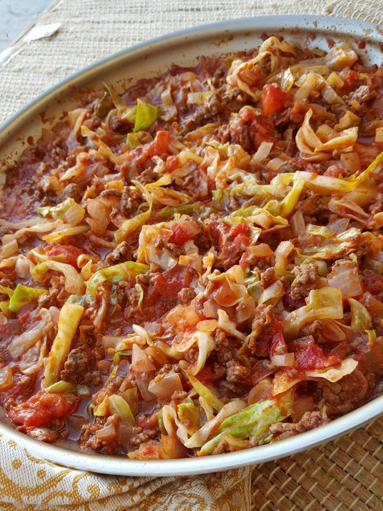 Recipe For Ground Beef  cabbage and ground beef skillet