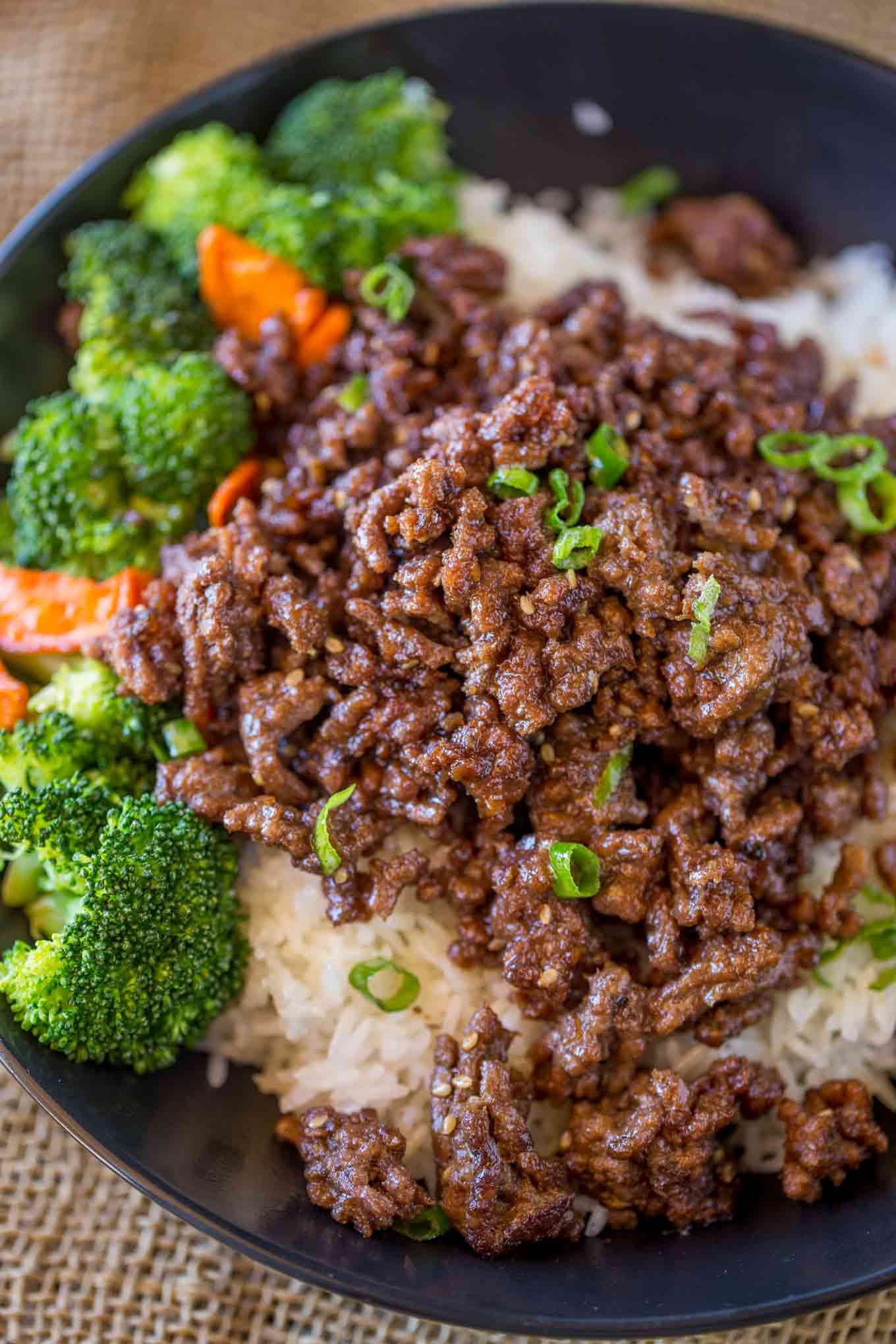 Recipe For Ground Beef  Ground Mongolian Beef Dinner then Dessert