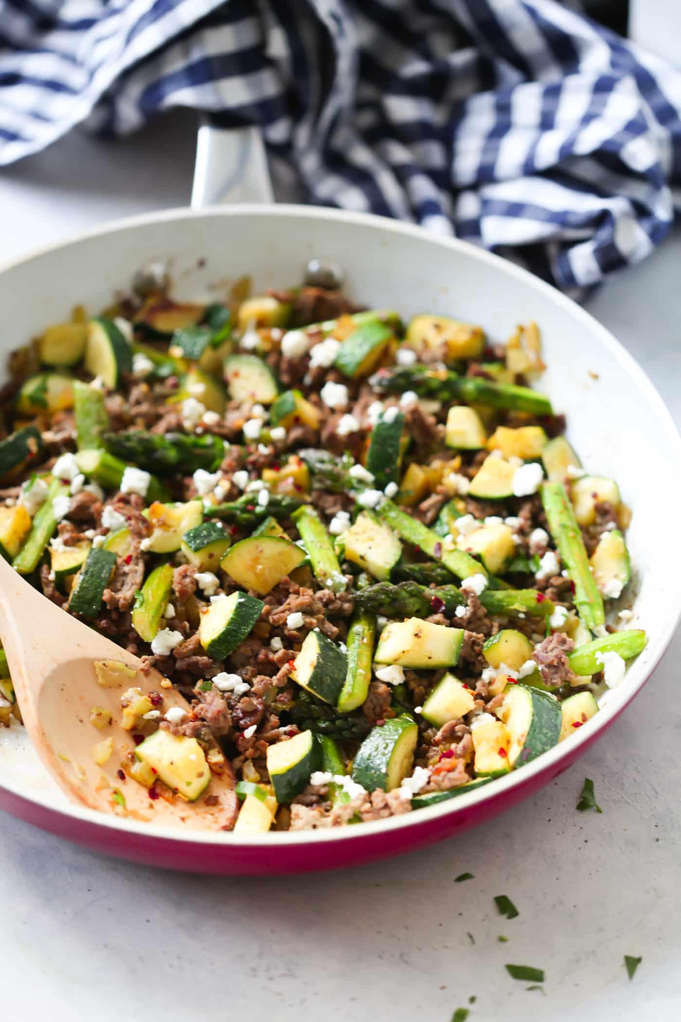 Recipe For Ground Beef  Ground Beef Veggie Skillet Recipe Primavera Kitchen