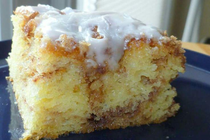 Recipe For Honeybun Cake  Honey bun cake breakfast Pinterest