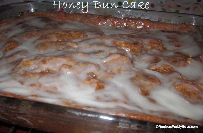 Recipe For Honeybun Cake  Recipes For My Boys Honey Bun Cake