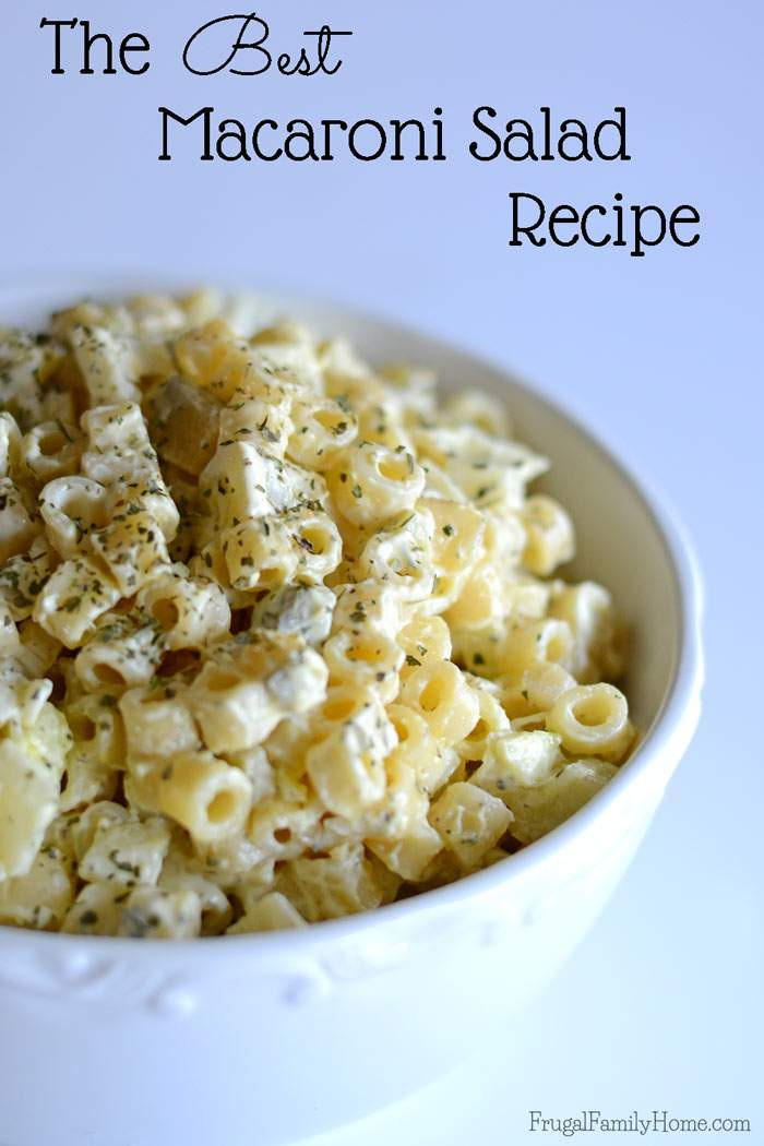 Recipe For Macaroni Salad  Best Macaroni Salad Recipe
