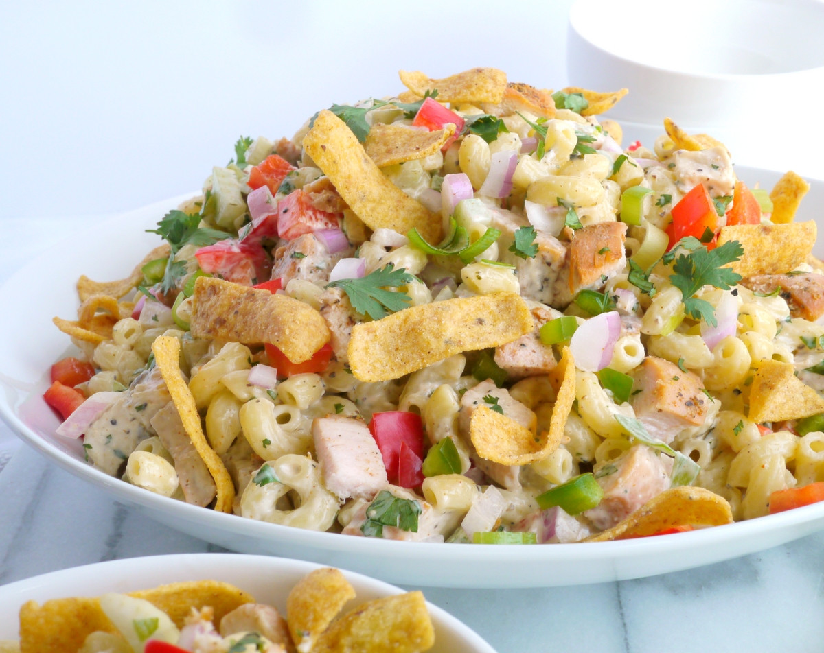 Recipe For Macaroni Salad  Kicked Up Chicken Macaroni Salad