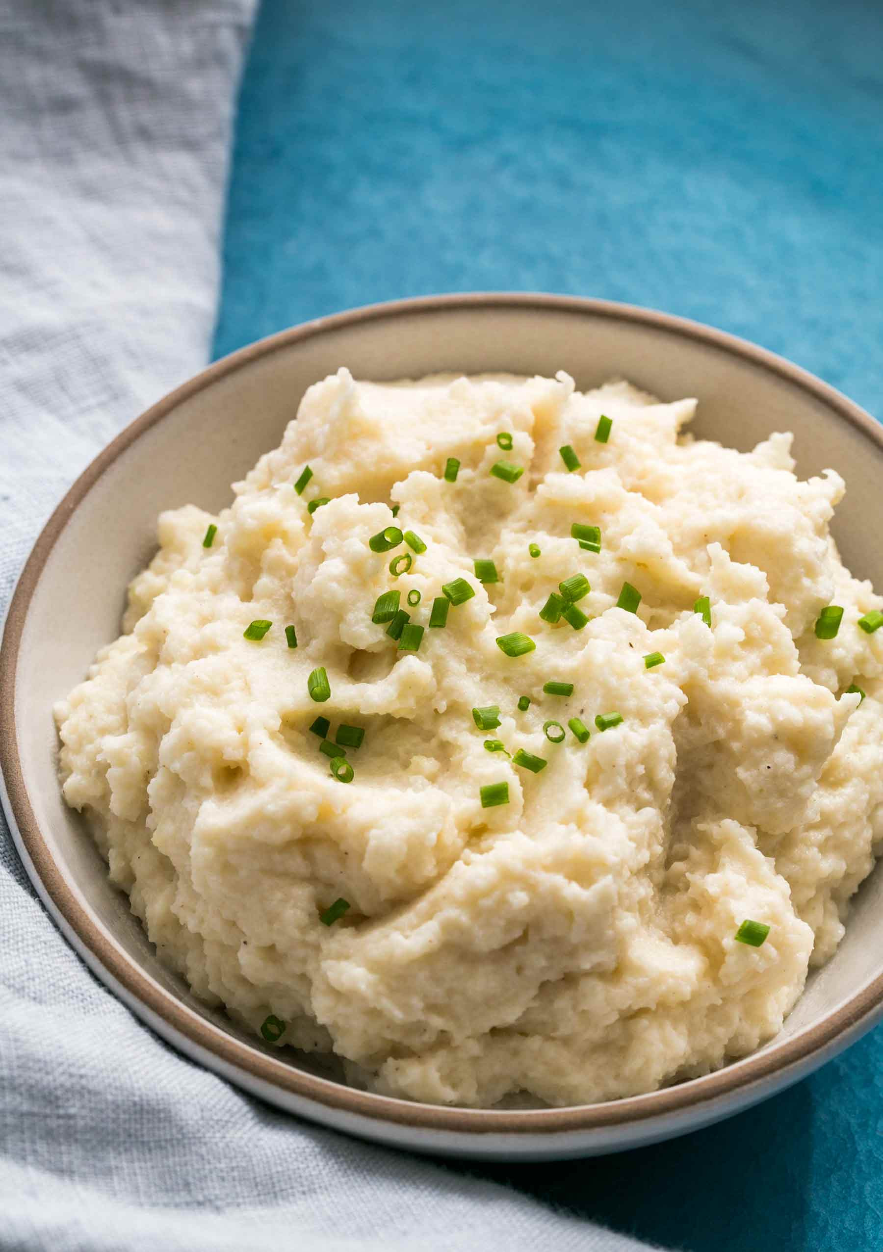 """Recipe For Mashed Potatoes  Cauliflower Mashed """"Potatoes"""" with Browned Butter Recipe"""