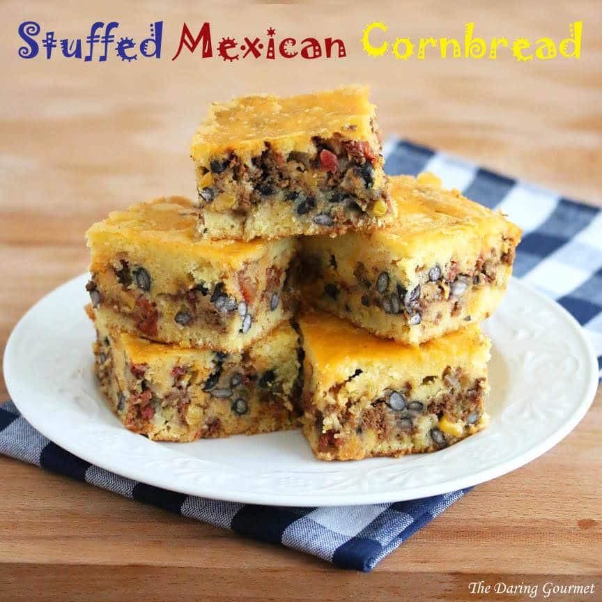 Recipe For Mexican Cornbread  Stuffed Mexican Cornbread The Daring Gourmet