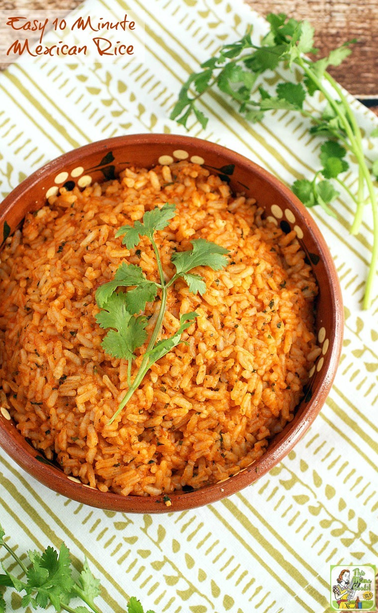 Recipe For Mexican Rice  Easy 10 Minute Mexican Rice