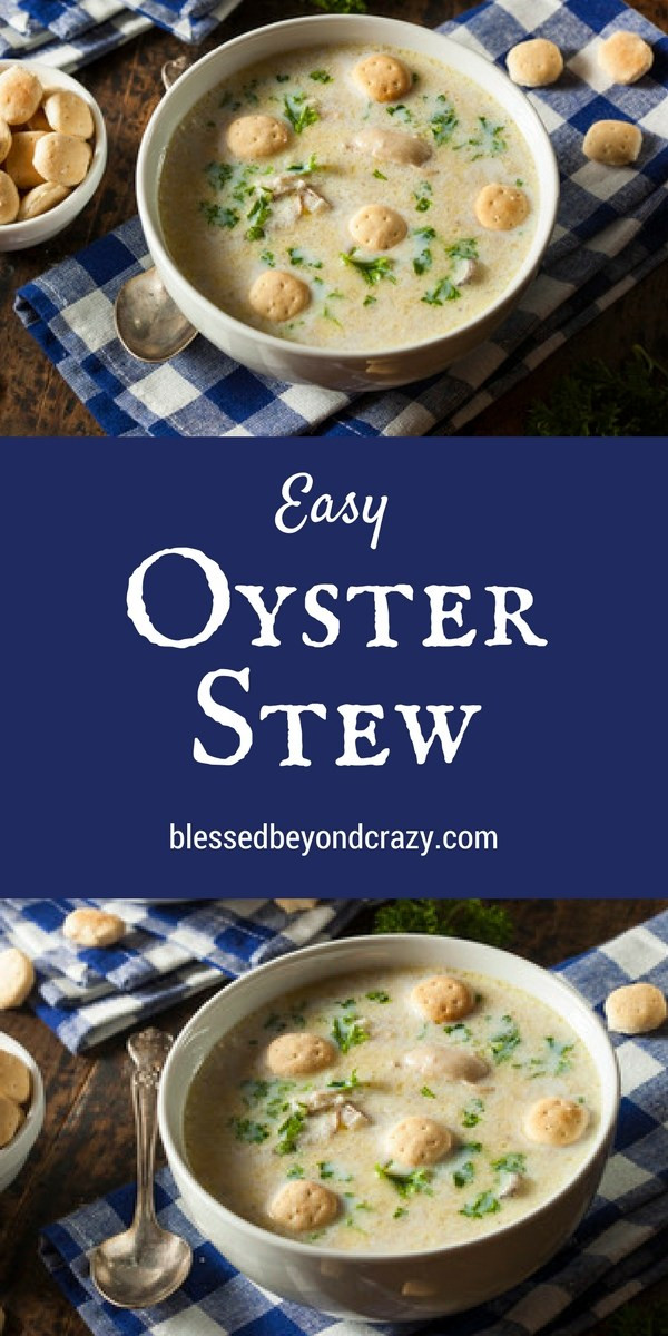 Recipe For Oyster Stew  Easy Oyster Stew Recipe
