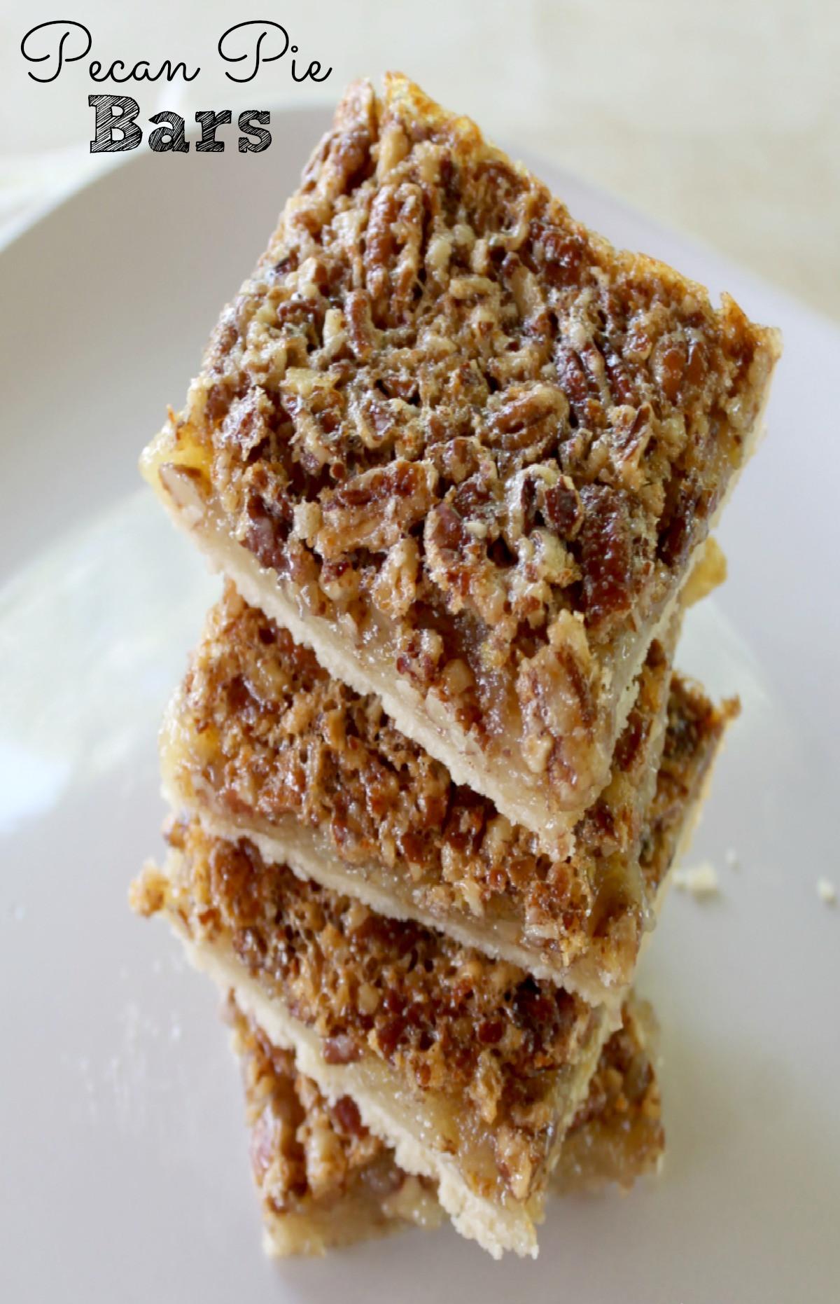 Recipe For Pecan Pie  Pecan Pie Bars Pie Super Easy Pecan Recipe