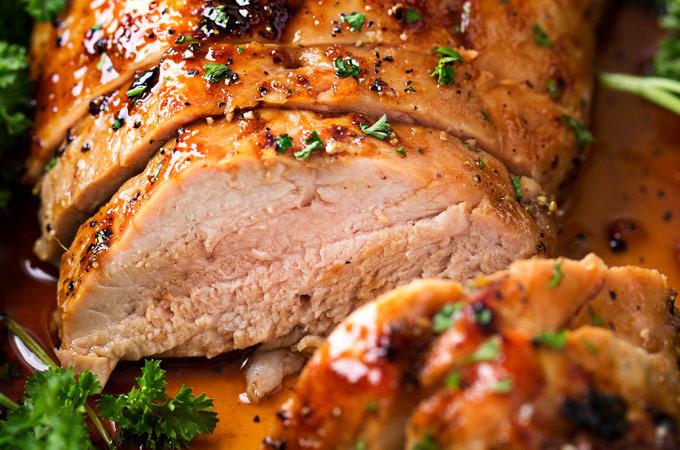Recipe For Pork Loin Roast  Ginger Honey Roasted Pork Tenderloin The Chunky Chef