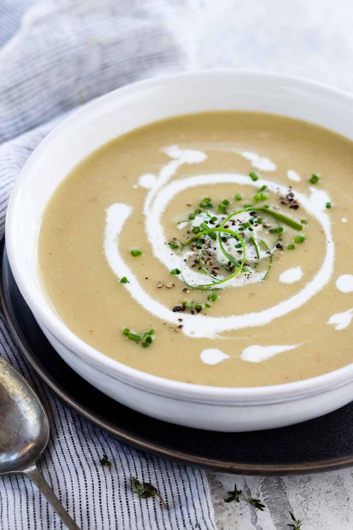Recipe For Potato Leak Soup  Potato Leek Soup Recipe Instant Pot Jessica Gavin