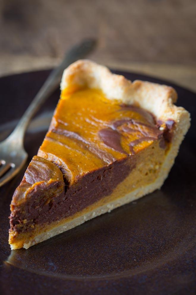 Recipe For Pumpkin Pie  chocolate swirl pumpkin pie Healthy Seasonal Recipes
