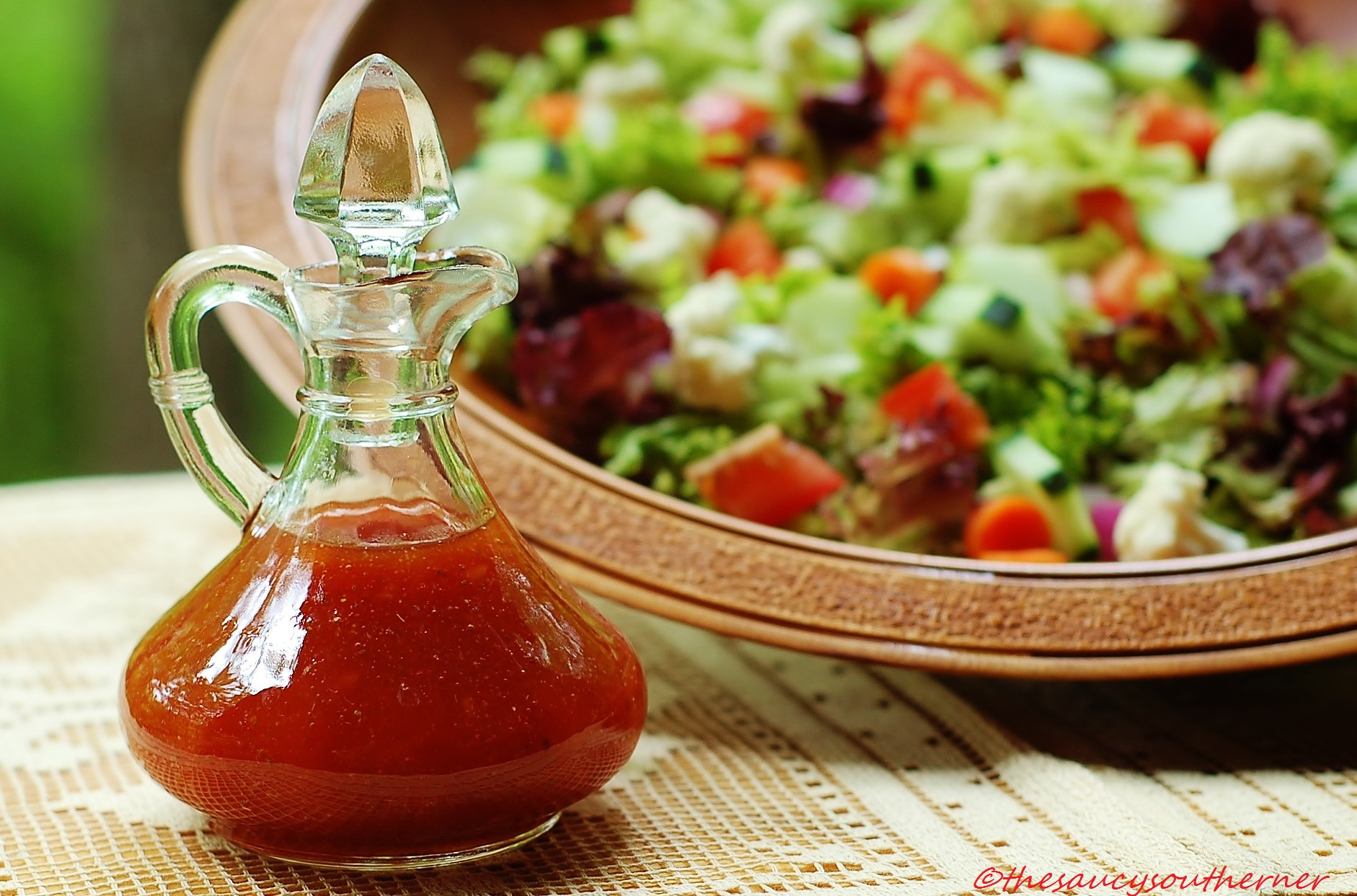 Recipe For Salad Dressings  No Fat Honey French Dressing – Meatless Monday