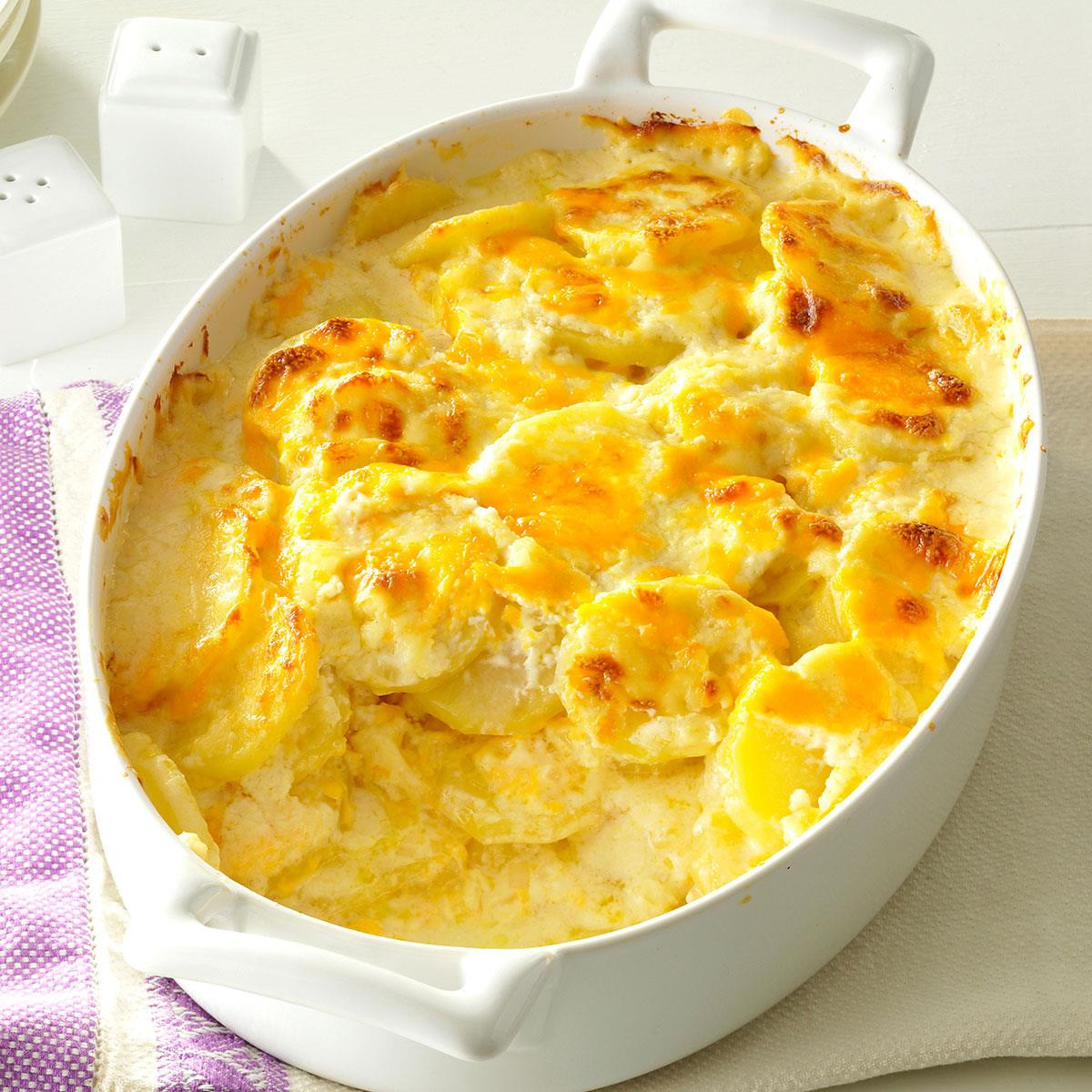 Recipe For Scalloped Potatoes  Sharp Cheddar Scalloped Potatoes Recipe