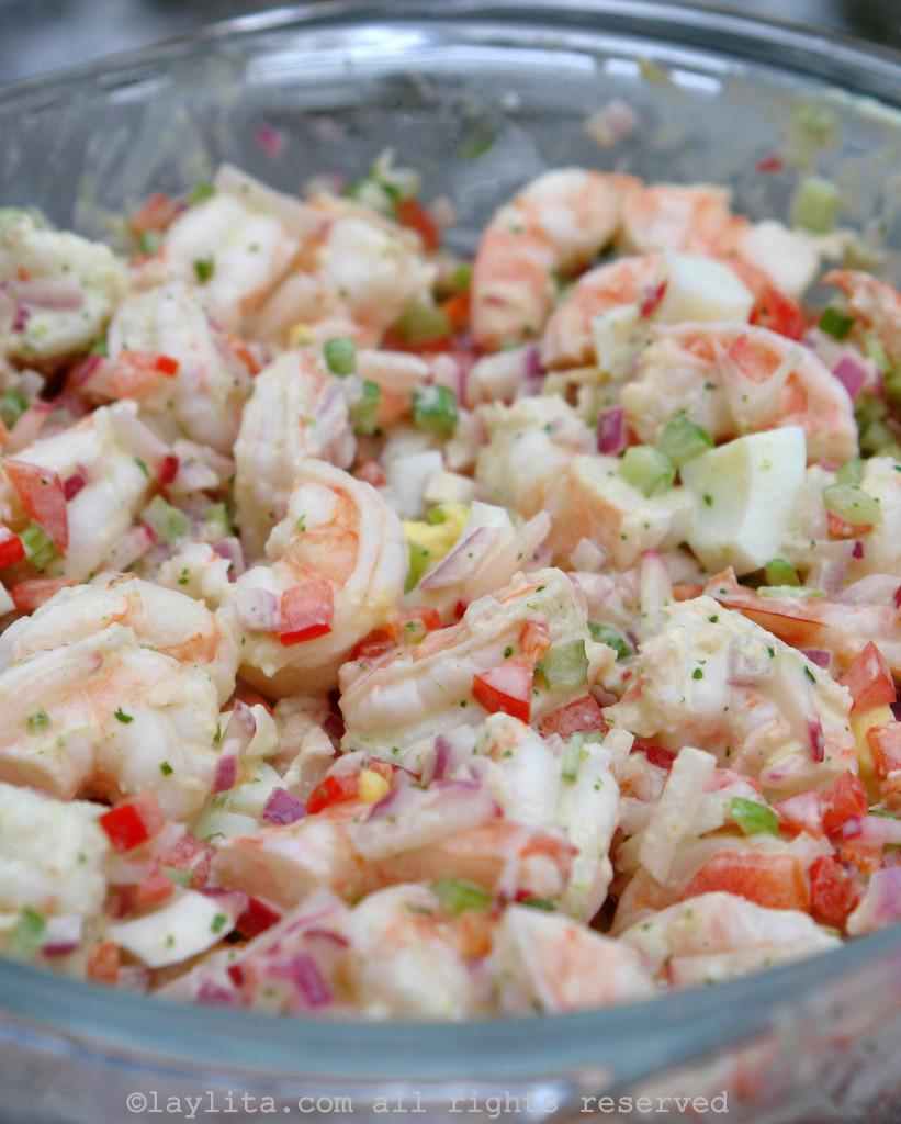 Recipe For Shrimp Salad  Shrimp salad with cilantro mayonnaise – Laylita's Recipes