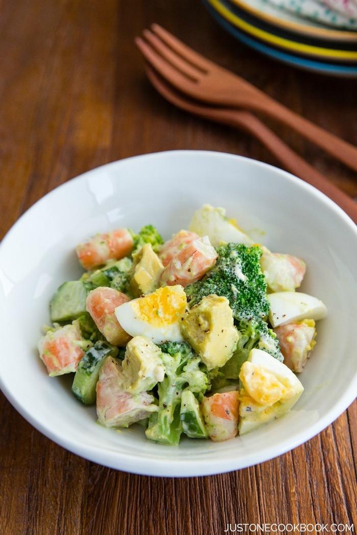Recipe For Shrimp Salad  Shrimp Salad Recipe ブロッコリーと海老サラダ • Just e Cookbook