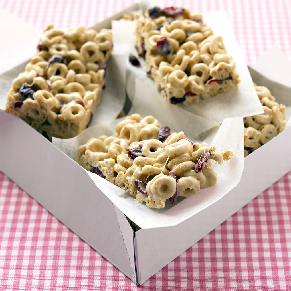 Recipe For Snacks Cranberry Oat Cereal Bars Recipe