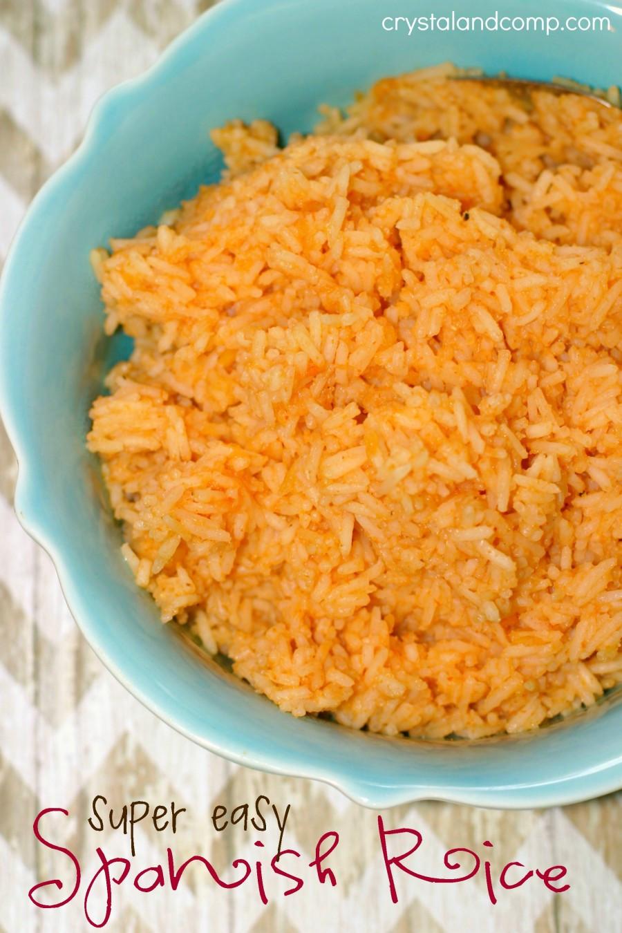 Recipe For Spanish Rice  Easy Recipes Spanish Rice