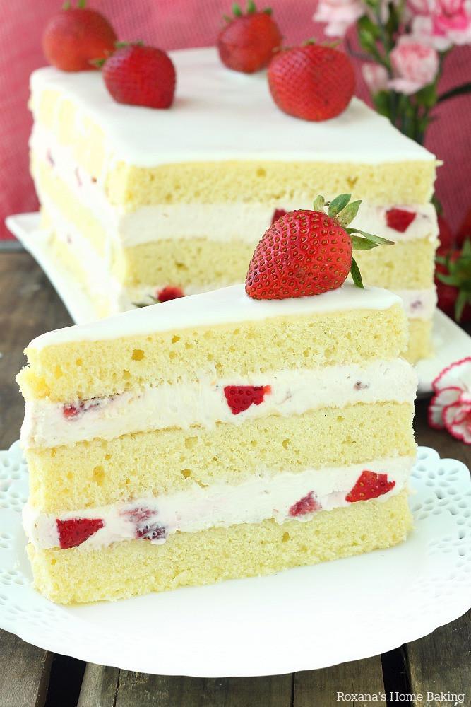 Recipe For Strawberry Shortcake  Strawberry shortcake cake recipe