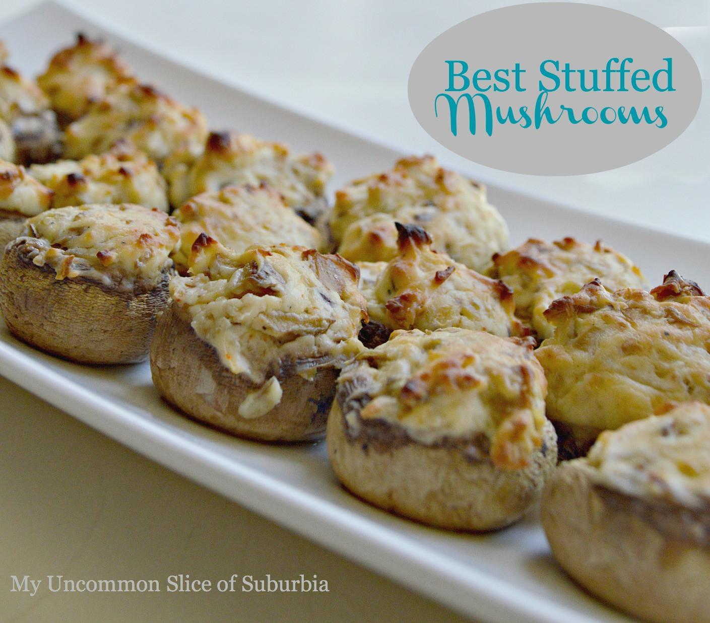 Recipe For Stuffed Mushrooms  Stuffed Mushroom Recipe My Un mon Slice of Suburbia