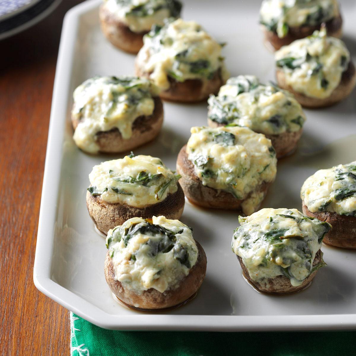 Recipe For Stuffed Mushrooms  Spinach Dip Stuffed Mushrooms Recipe