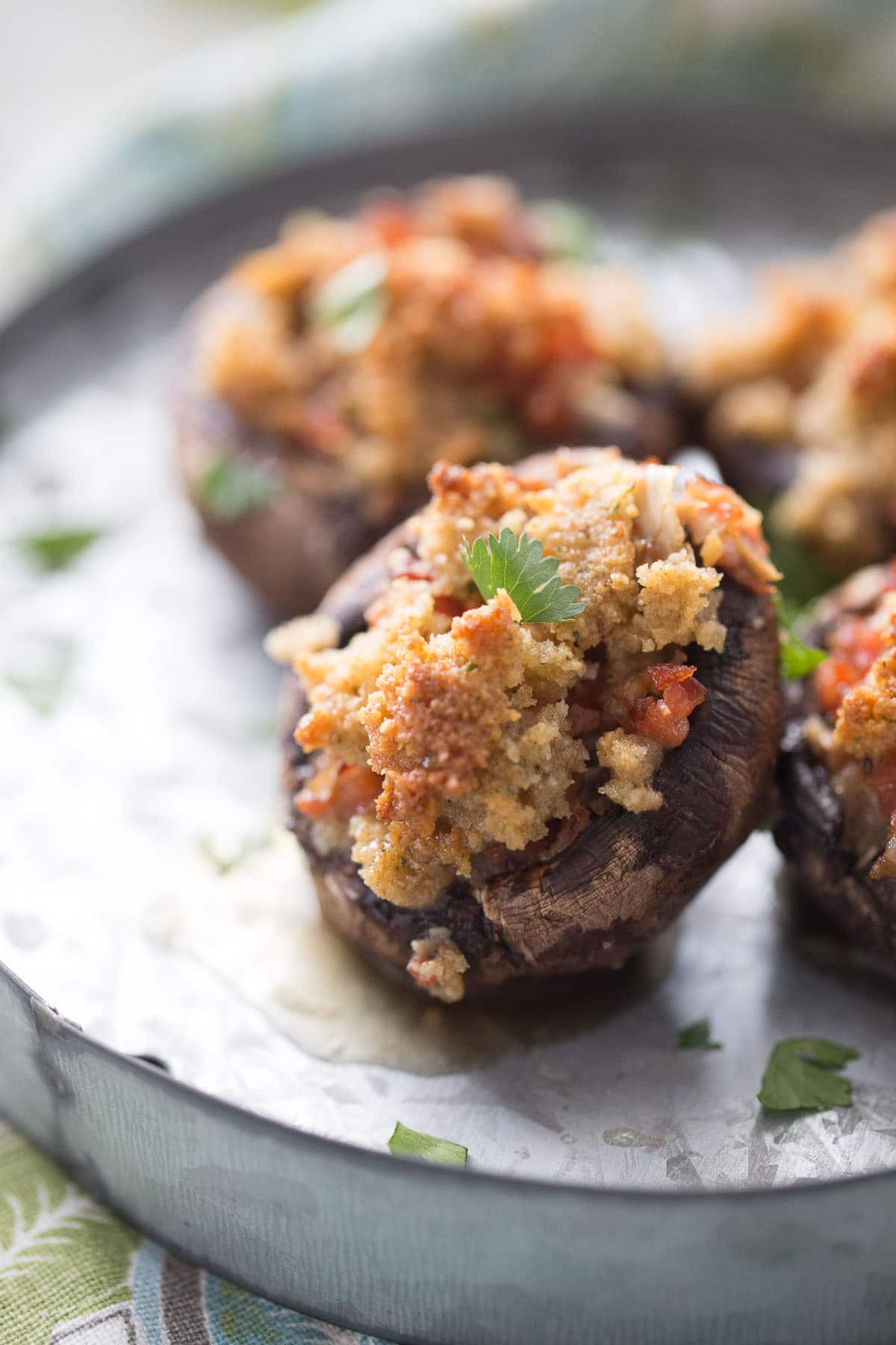 Recipe For Stuffed Mushrooms  easy stuffed mushrooms with sausage