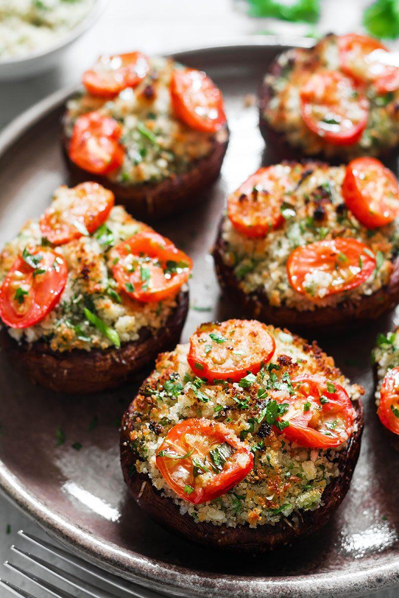 Recipe For Stuffed Mushrooms  Portobello Mushrooms Stuffed with Garlic Herb Butter