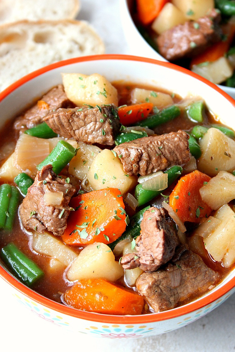 Recipes For Beef Stew  Slow Cooker Beef Stew Recipe Crunchy Creamy Sweet