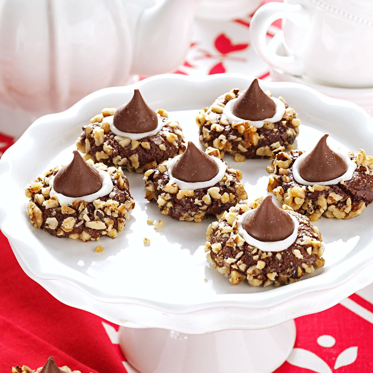 Recipes For Christmas Cookies  Chocolate Thumbprints Cookies Recipe