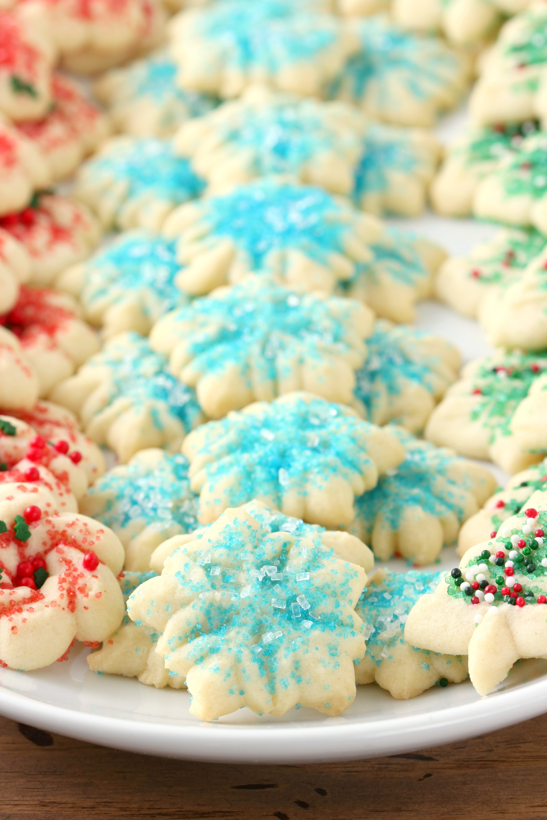 Recipes For Christmas Cookies  Classic Spritz Cookies A Kitchen Addiction