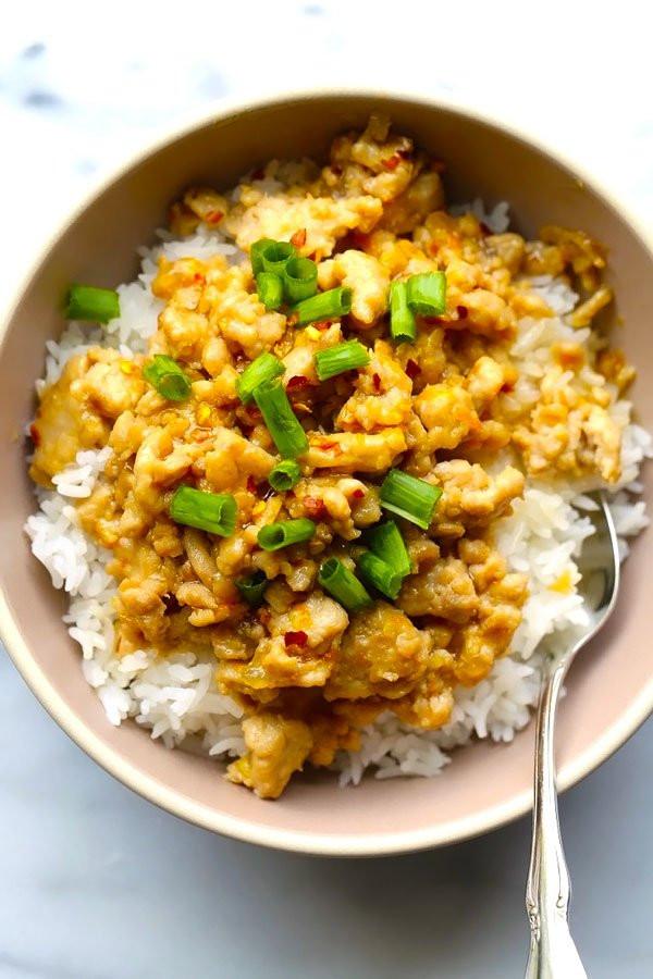 Recipes For Ground Chicken  Ground Chicken Dinner Recipe with Orange Sauce