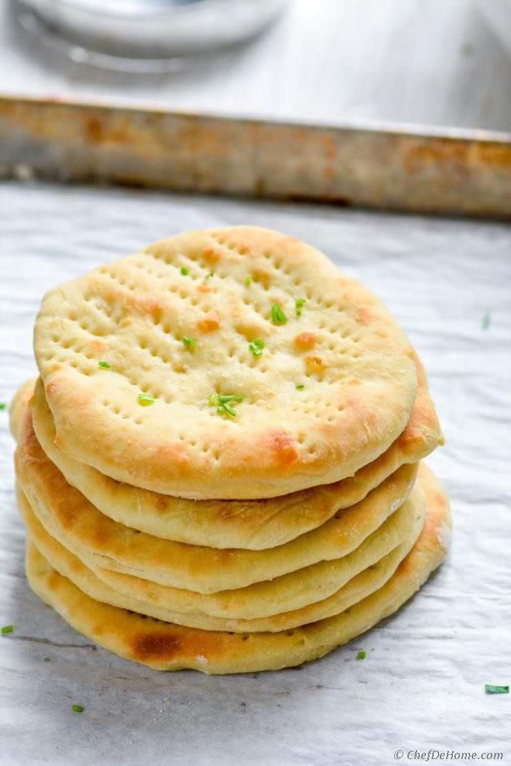 Recipes For Nan Bread  Quick Oven Baked Naan Bread Recipe