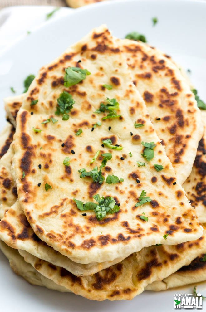 Recipes For Nan Bread  Butter Naan Cook With Manali