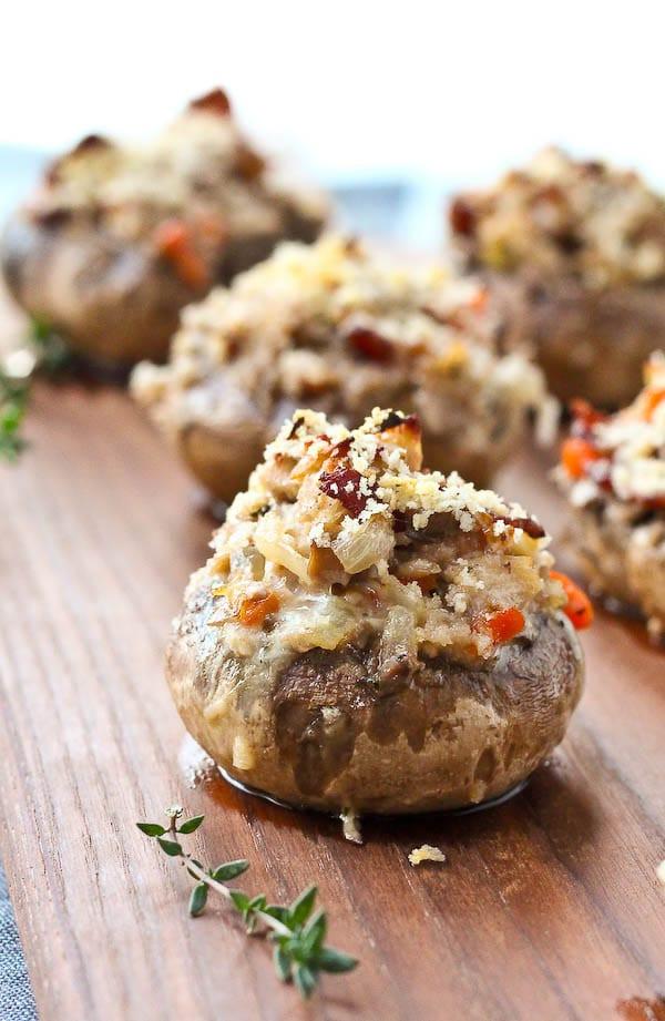 Recipes For Stuffed Mushrooms  Coq Au Vin Stuffed Mushrooms Recipe Rachel Cooks