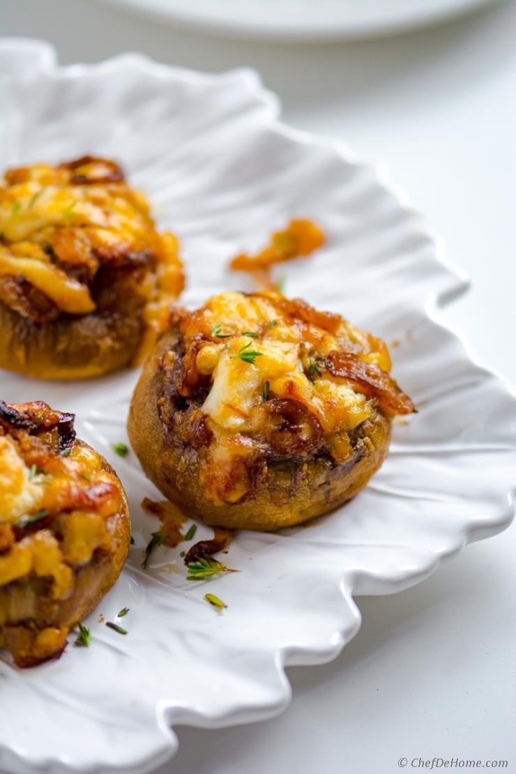Recipes For Stuffed Mushrooms  French ion Stuffed Mushrooms Recipe