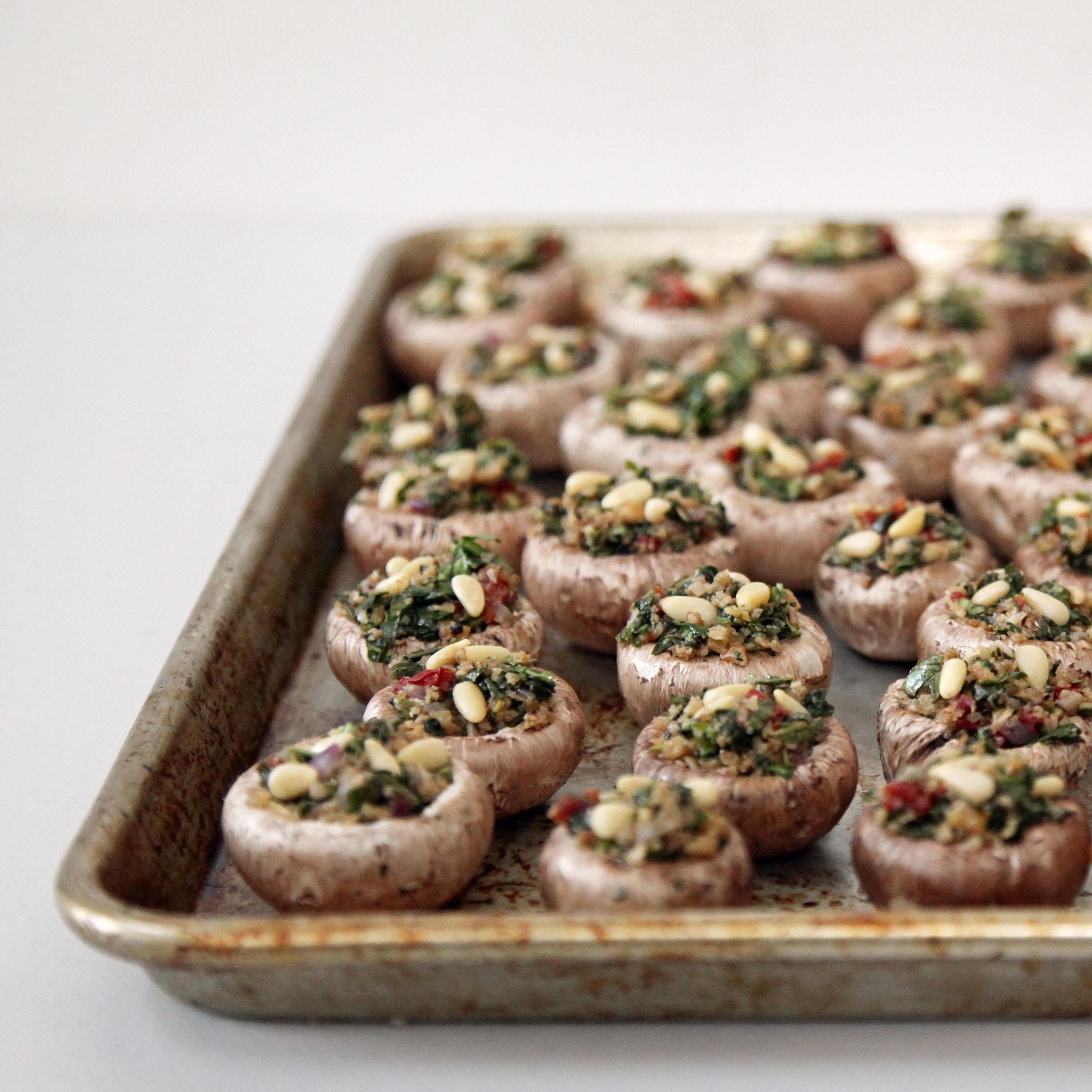 Recipes For Stuffed Mushrooms  Ve arian Stuffed Mushroom Recipe