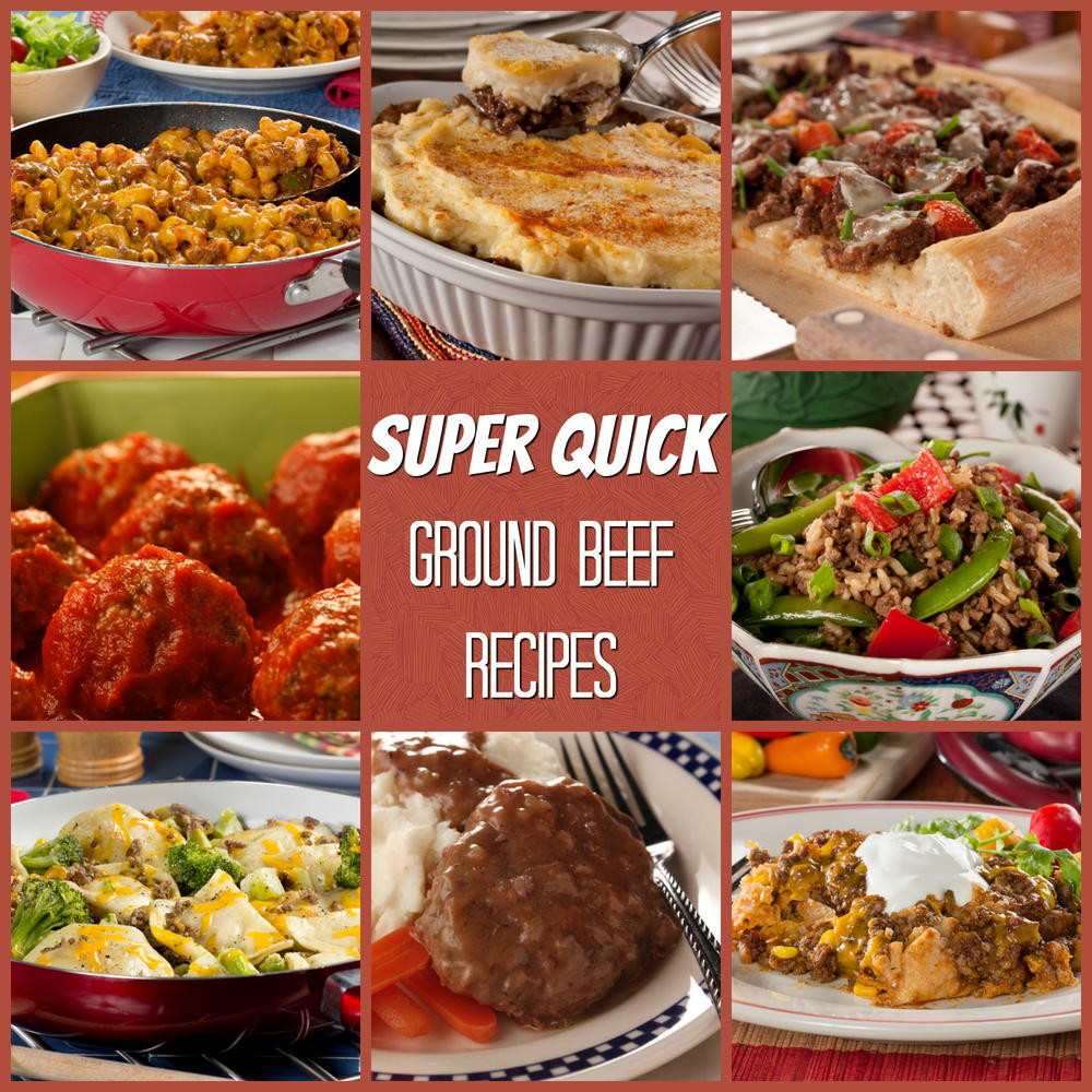 Recipes Using Ground Beef  Super Quick Ground Beef Recipes