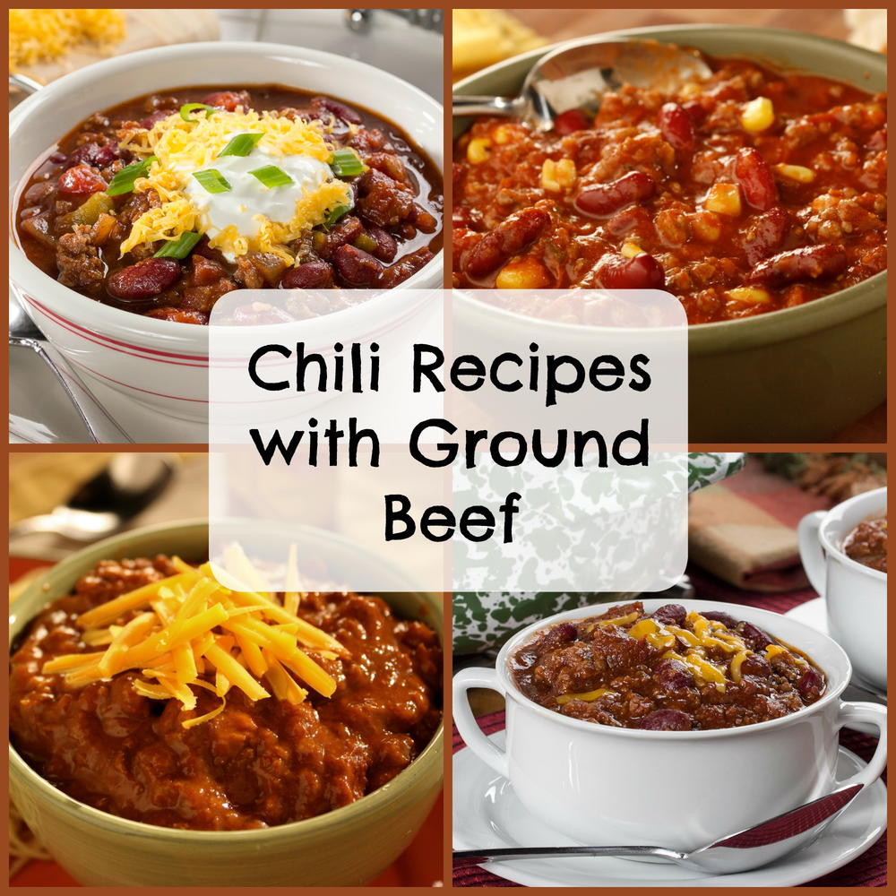 Recipes Using Ground Beef  Easy Chili Recipes With Ground Beef