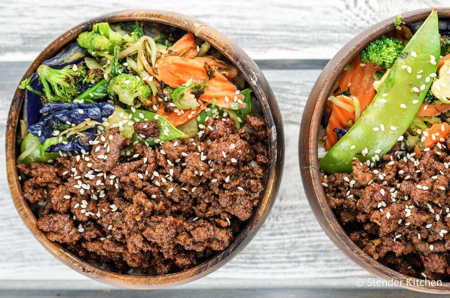 Recipes Using Ground Beef  Healthy Korean Ground Beef with Ve ables Slender Kitchen