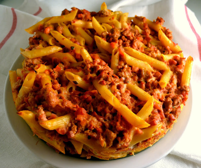 Recipes Using Ground Pork  Candy Girl Pasta Bake with Pancetta Rosemary & Ground Pork