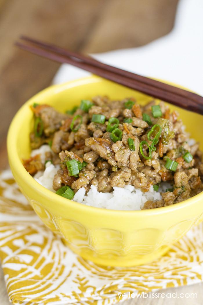 Recipes Using Ground Turkey  Teriyaki Turkey Rice Bowl