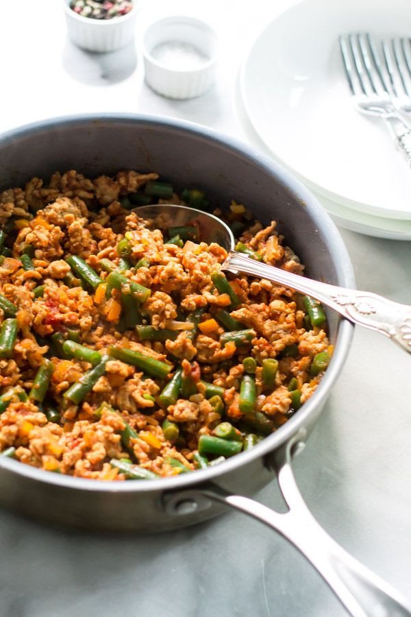 Recipes Using Ground Turkey  Ground Turkey Skillet with Green Beans Recipe