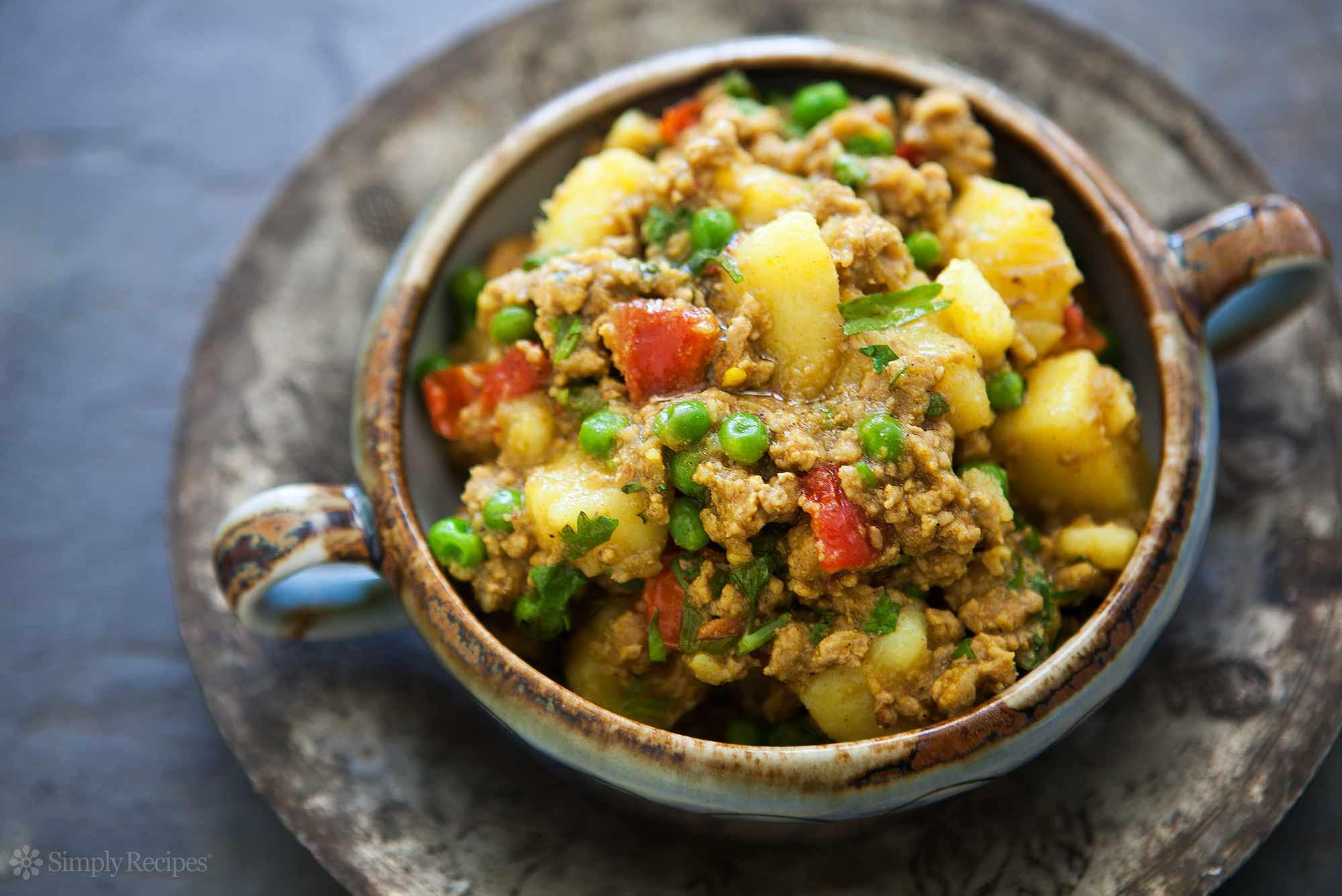 Recipes Using Ground Turkey  Curried Ground Turkey with Potatoes Recipe