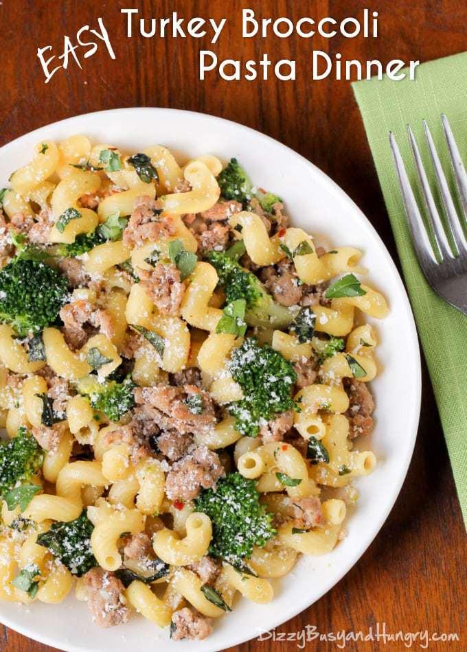 Recipes Using Ground Turkey  Easy Turkey Broccoli Pasta Dinner