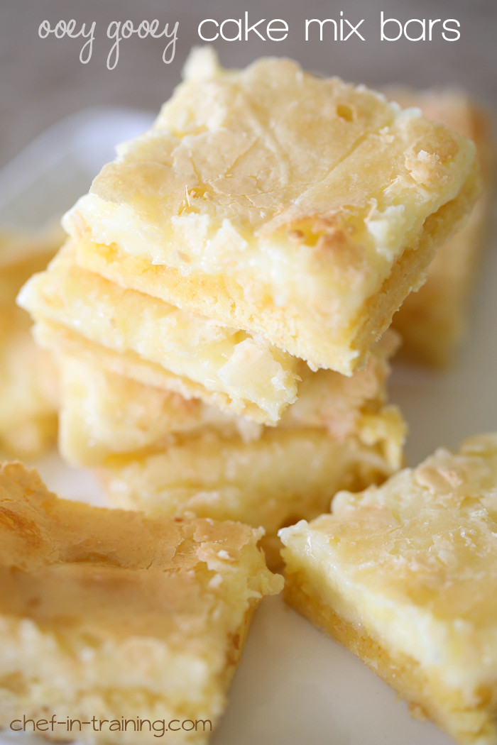 Recipes Using Yellow Cake Mix  Ooey Gooey Cake Mix Bars Chef in Training