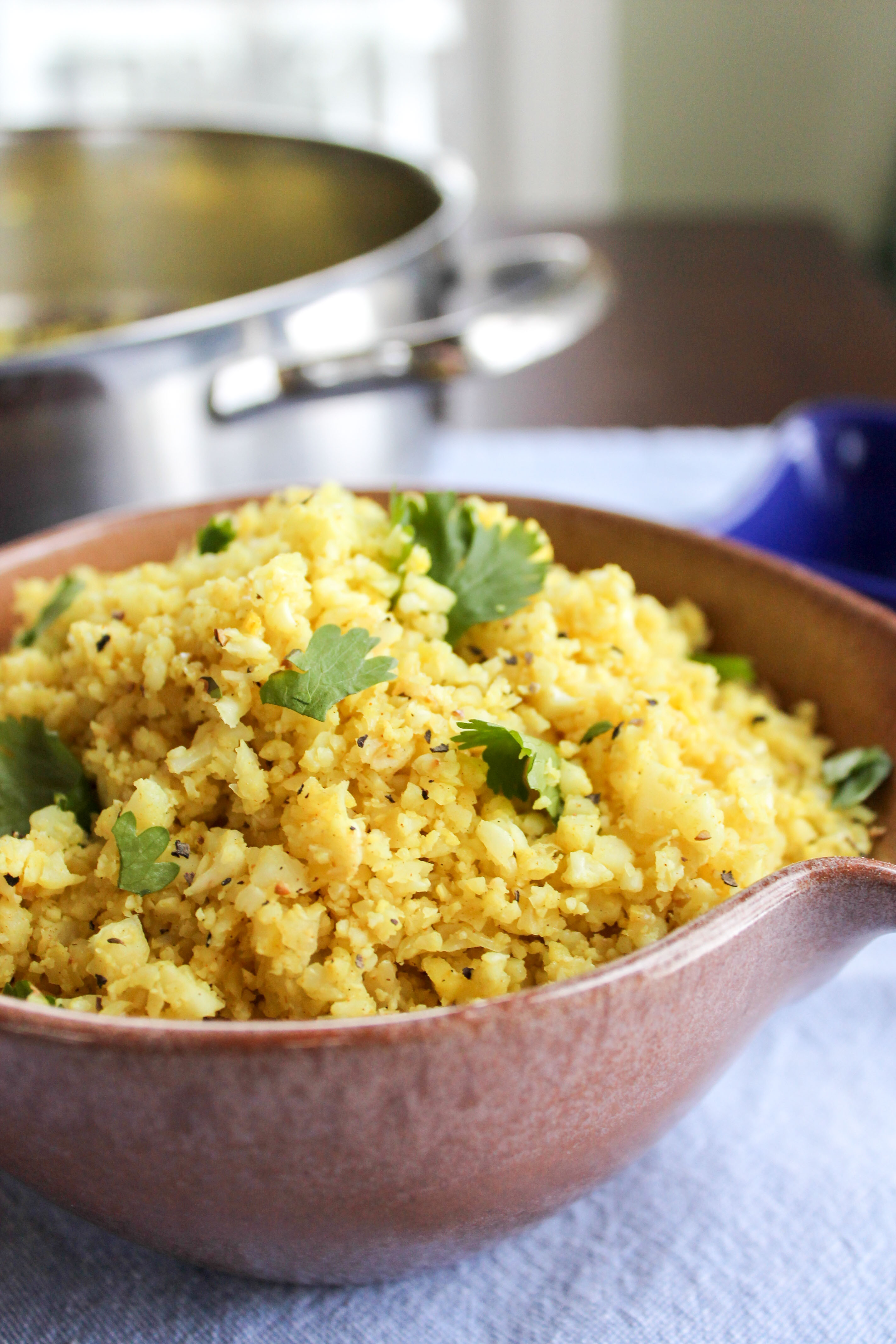 "Recipes With Cauliflower Rice  Indian Spiced Cauliflower ""Rice"""
