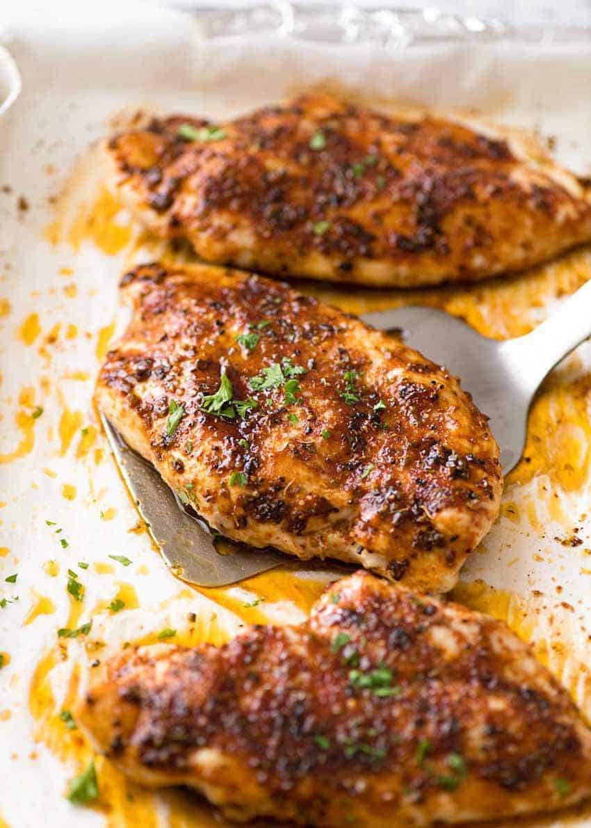 Recipes With Chicken Breasts  Oven Baked Chicken Breast